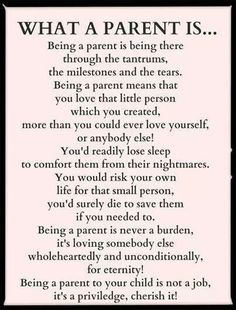 Being A Parent.. and this I can say is true.. I do everything for my son just to see him happy! I put his happiness first before mine. I LOVE you baby boy.