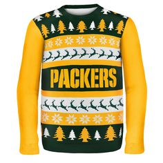 Forever Collectibles Bay Packers One Too Many Ugly Sweater