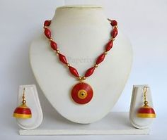 Classic Paper Quilling Necklace & Earrings - Quilled Jewellery Set