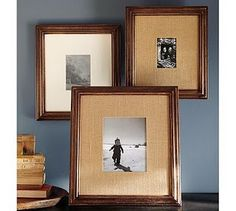 DIY burlap frames, another pottery barn knock off!