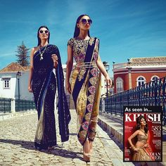 HERE IT IS!! In full colour one of my fav fav fashion shoots i have ever done in sunny Algarve, Portugal. This is a perfect example of a hard working team fused with amazing outfits by @zarkanoflondon  Model left makeup@summayamua Model right makeup@juliealimakeup Hair @sairarahmanhairstylist  Creative director @sonia_ullah #Repost @zarkanoflondon ・・・@khushmag #zarkanoflondon #saree #kushmagazine #dutti #bride #eid #beautiful #beauty #indian #traditional #stylish #any occasion