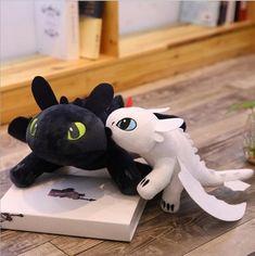 Buy How to Train Your Dragon 3 plush Toys Toothless light Fury Anime Figure Night Fury Dragon Plush Doll Toys Children Kids