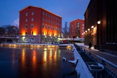 factory-town atmosphere - Tehdaskaupungin tunnelmaa,Tampere Misty Dawn, City Lights, Dusk, Landscape, Amazing, Places, Finland, History, Scenery