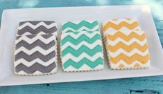 We are all about patterns.. and cookies!  These are Marissa's colors!