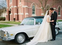 Traditional Spring Blossom Wedding from Olivia Griffin Classic Tuxedo, Classic Cars, Wedding Send Off, Wedding Cars, Mercedes Benz Dealerships, Wedding Getaway Car, Classic Mercedes, Mercedes Benz Cars, Spring Blossom