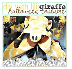 """""""Ѽ; diy with lili: giraffe halloween costume"""" by tip-glitter-girls ❤ liked on Polyvore featuring ASOS and Clips"""