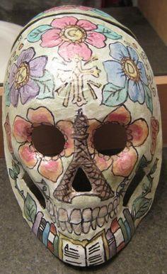 Dia de los Muertos mask to honor my Aunt's passing