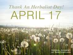 Thank An Herbalist Day is April 17 - get ideas and printable cards here!