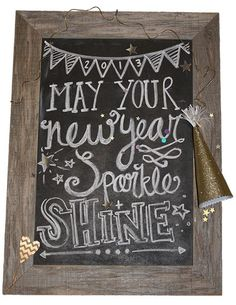 may your new year sparkle + shine