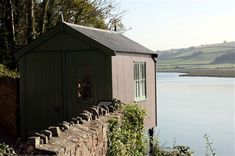 The Writing Shed' used by Dylan Thomas at Laugharne, Wales