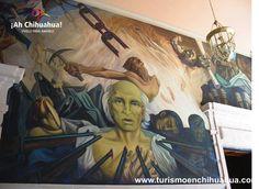 EL pintor y muralista Aarón Piña Mora, nació en 1918 en Metztitlán, Hidalgo. En los años treinta realiza sus estudios de contabilidad y como oyente en la academia de San Carlos en la Ciudad de México. A finales de esa década llega como contador del Banco Nacional de Crédito Ejidal. Funda en la Ciudad de Chihuahua 1946, la primer Escuela de Artes Plásticas del Estado. Parte de su gran obra se encuentra en los muros del Palacio de Gobierno. www.turismoenchihuahua.com