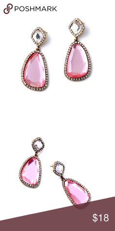💟Pretty In Pink Earrings 💕Irregular Shaped Pink Earrings! Jewelry Earrings