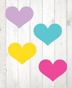 Mini Corações para mesa - Jardim Colorido - comprar online
