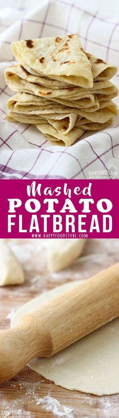 Simple Mashed Potato Flatbread Recipe. Having leftover mashed potatoes? Turn them into this easy mashed potato flatbread! It's a yeast-free & oil-free side dish that everyone loves! #potato #flatbread #recipe #food #lunch #dinner #cooking #simple #mashed #noyeast via @happyfoodstube
