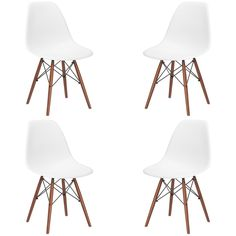 Edgemod Vortex Side Chair with Walnut Legs (Set of 4) | Overstock.com Shopping - The Best Deals on Dining Chairs