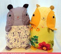 guinea pig cushions. cute x