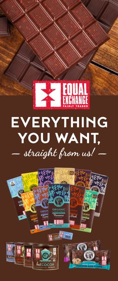 Check out our mouthwatering selection of Fair Trade, organic chocolates and cocoas, sourced directly from small-scale farmers in Latin America. Fair Trade Chocolate, Chocolate Bars, Chocolate Lovers, Chocolate Chips, Equal Exchange Chocolate, Organic Chocolate, Farmer, Minis, Cocoa