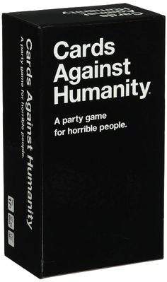 Cards Against Humanity Card Game - Cards against humanity    Cards Against Humanity is a party game for horrible people. Originally intended as a New Year's Eve party game created by a group of friends, the game features politically incorrect humor that is designed to both delight and offend anyone and everyone equally.