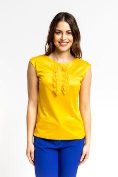 Yellow Top, Timeless Elegance, Summer Looks, Delicate, Vibrant, Spring Summer, Turquoise, Sun, Elegant