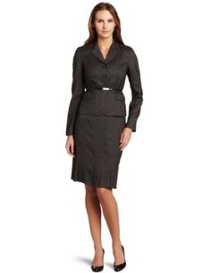 #4: Anne Klein Women's Melange Jacket And Skirt.