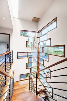 Turn Your Stairwell Into A Design Destination U2013 These Box Style Windows Add  Interest And