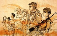 Toast the Knowing, The Splendid Angharad, Capable, The Dag, and Cheedo the Fragile, Imperator Furiousa and Mad Max, immortalized in fan art.