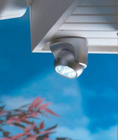 Motion Sensor Wireless LED Lights white $8.95 each Place 2 out back one over basement door and one on side of garage