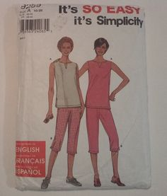 9259 Simplicity Misses Top and Pants   by MammieandPappysPlace
