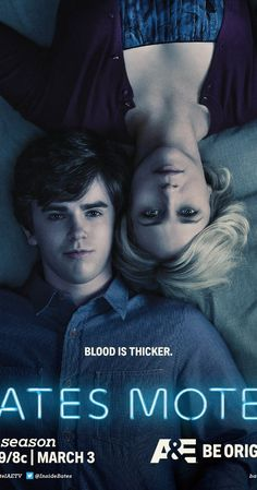 """Bates Motel With Vera Farmiga, Freddie Highmore, Max Thieriot, Nicola Peltz. """"Bates Motel"""" is a contemporary prequel to the genre-defining film """"Psycho,"""" and gives a portrayal of how Norman Bates' (Freddie Highmore) psyche unravels through his teenage years. Fans discover the dark, twisted backstory of Norman Bates and how deeply intricate his relationship with his mother, Norma (Vera Farmiga), truly is."""