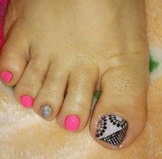 Toe Nail Designs, Hot Nails, Nail Art, Tips, Pretty Toe Nails, Simple Toe Nails, Cute Nails, Ongles, Nail Arts