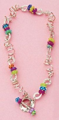 Cassie Donlen ...spiral wire links and lampwork beads