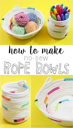 How to make No-Sew Rope Bowl - made with HAPPY