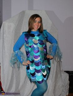 Rainbow Fish - Homemade Halloween Costume Phillips-Barton Phillips-Barton Monaco this reminded me of u lol Book Costumes, Book Character Costumes, Teacher Costumes, Book Week Costume, Group Costumes, Book Characters, Homemade Halloween Costumes, Halloween Costume Contest, Halloween Kostüm