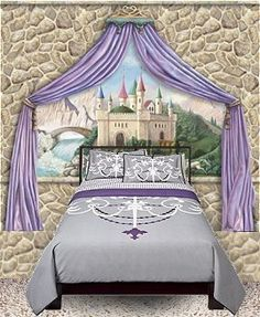 Painted in pretty shades of pink with gold accents our for Fairy princess bedroom ideas