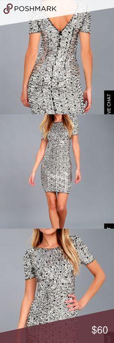 NWT Sequin Dress X-Small NWT fun flirty sequin dress from Lulus Lulu's Dresses Mini