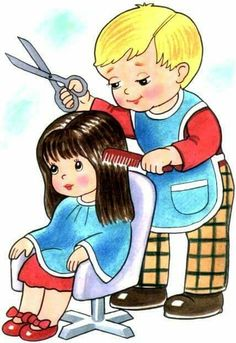 The Preschool cloud: Peluquer - Hairdressers