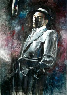 Frank Sinatra - Capitol  - Jazz - mixed media - 28x40 inches - Original art by Marcelo Neira
