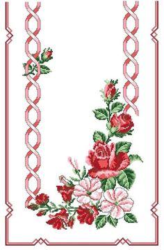 ru / Фото - ***** - celita -- Same in red Cross Stitch Bird, Cross Stitch Borders, Cross Stitch Flowers, Cross Stitch Designs, Cross Stitching, Cross Stitch Embroidery, Hand Embroidery, Cross Stitch Patterns, Embroidery Patterns Free