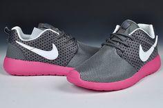 9830c27fe45a Nike Roshe Run Womens Medium Grey Sail Polarized Pink Black 511882 002 Pink  Running Shoes
