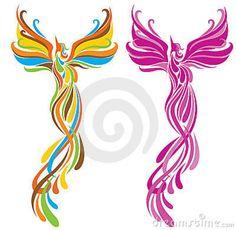 phoenix tattoo idea....I like the pink one