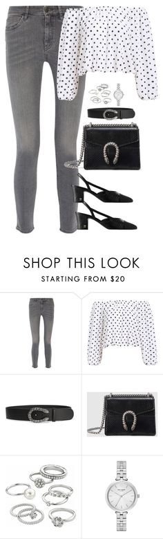 """Unbenannt #2181"" by luckylynn-cdii ❤ liked on Polyvore featuring M.i.h Jeans, Gucci, Candie's and Kate Spade"