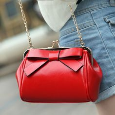2014 New Korean Retro chain bag shoulder bag handbag bag lady candy color bag with cute bow coin purse wholesale free shopping