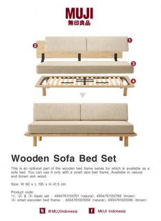 Wooden Sofa Bed Set 35 Newest Small Living Room Sofa Beds Apartment Ideas Sofa Bed Set, Sofa Bed Frame, Ikea Sofa Bed, Diy Sofa, Diy Bed, Couch, Twin Bed Sofa, Bedding Master Bedroom, Bedroom Sets
