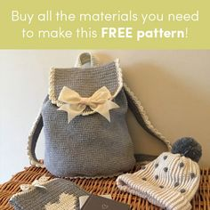"""Perfect for summer outings, Kate Eastwood's gorgeous """"Out & About"""" Backpack is great fun to make, and a perfect gift! On those 'out and about' sort of"""