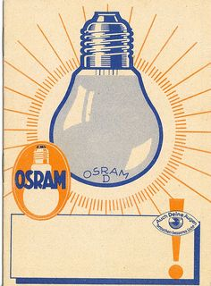 Osram Light Bulb Ad, circa 1935 by DavideLevine, via Flickr