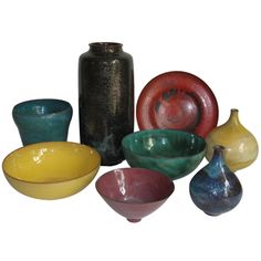 Gertrud and Otto Natzler: Pots | From a unique collection of antique and modern pottery at http://www.1stdibs.com/furniture/more-furniture-collectibles/pottery/