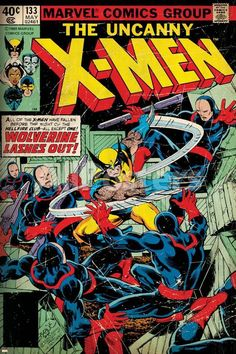 The Uncanny X-Men # The cover by John Byrne & Terry Austin. In this issue, Wolverine fights his way to his captured comrades while Cyclops and the X-Men wage a futile battle against the Inner Circle and their new Black Queen, Jean Grey. Marvel Comics, Comics Spiderman, Hq Marvel, Bd Comics, Marvel Comic Books, Comic Books Art, Comic Art, Comic Book Superheroes, Marvel Villains