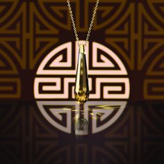 The Swarovski Veda Pendant is crafted in an exclusive crystal cut with an elongated drop silhouette, it's design was inspired by legendary locations along the silk road. #SecretTreasures
