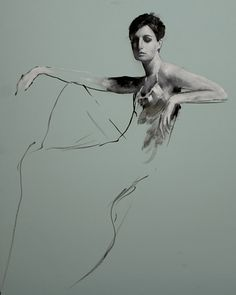 Erin Seated Ⅶ/エリン シーテッドⅦ/81×65cm/油彩、ボード/2010年