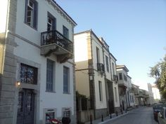 Amazing buildings at the area of Romeikos Gialos Amazing Buildings, Beautiful Islands, Multi Story Building, Street View